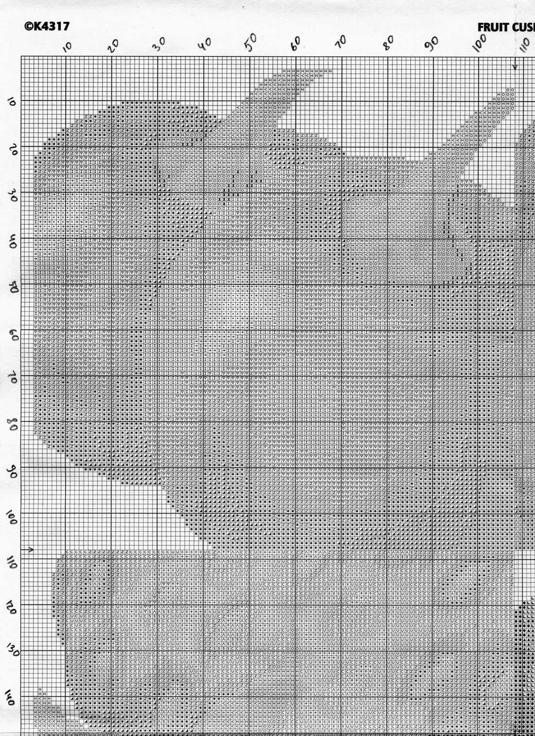 схема ягодной подушки 3