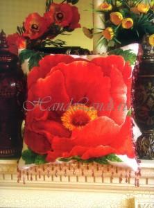 подушка маков цвет