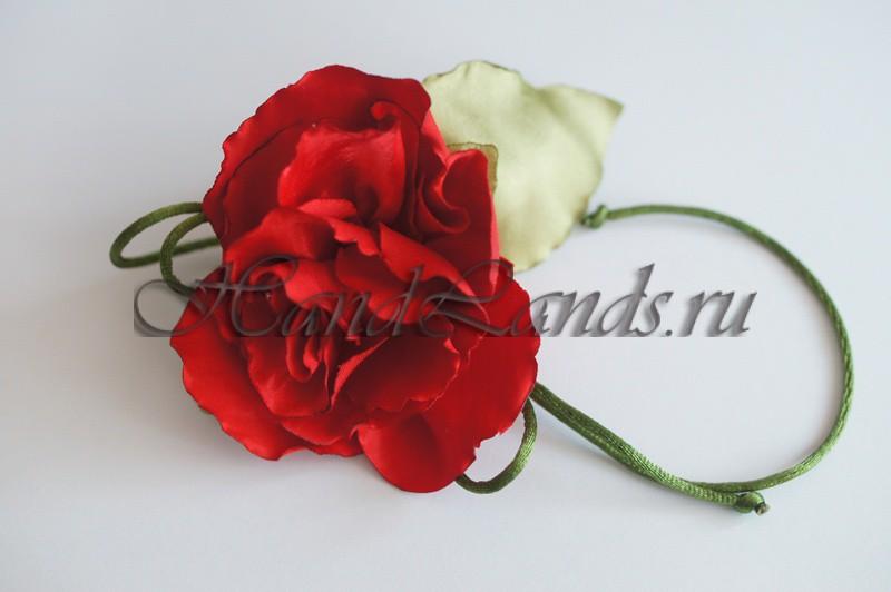 Роза из атласа
